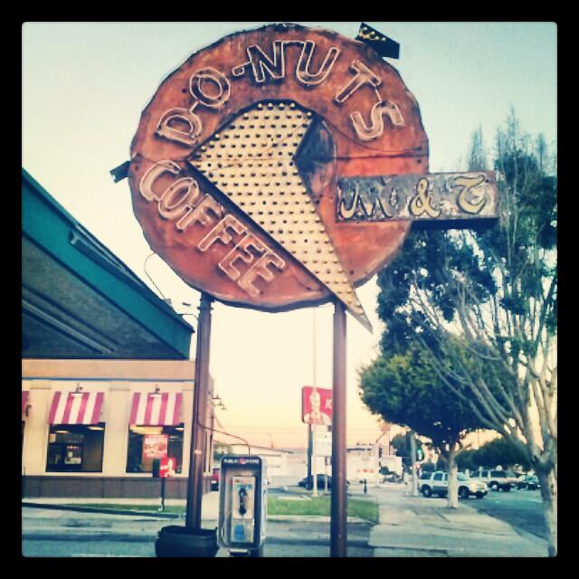 Vintage Donut Shop Sign